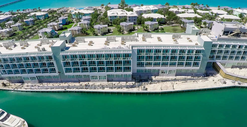 Admares's pre-assembled rooms at the luxury marina hotel in Bimini open to the public