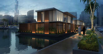 ADMARES wins floating homes on water contract in Marasi Business Bay Dubai